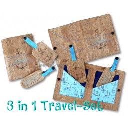 Travel Set 2 - Passport Cover & Luggage Tags 6x10 inch