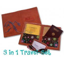 Travel Set 3 - Passport Cover & Luggage Tags 6x10 inch