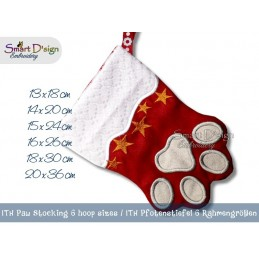ITH Paw Cat Dog Christmas Stocking 6 Sizes included