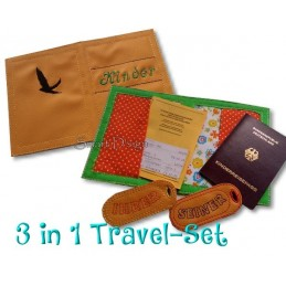 Travel Set 4 - Passport Cover & Luggage Tags 6x10 inch