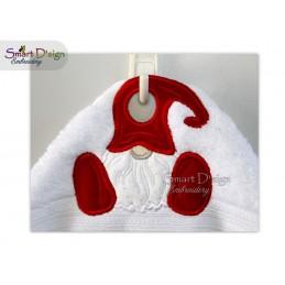 ITH Towel Topper Scandinavian Gnome 4x4 inch