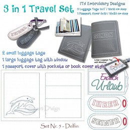 Travel Set 5 - Passport Cover & Luggage Tags 6x10 inch