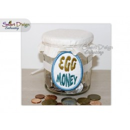 ITH Saving Jar Label EGG MONEY 4x4 inch