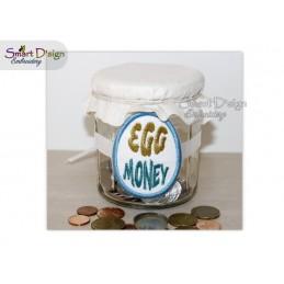 ITH Sparglas-Schild EGG MONEY 10x10 cm