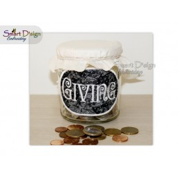 ITH Saving Jar Label GIVING 4x4 inch