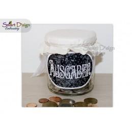 ITH Saving Jar Label AUSGABEN 4x4 inch