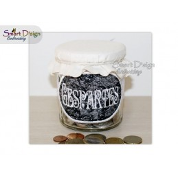 ITH Saving Jar Label GESPARTES 4x4 inch