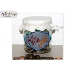 ITH Saving Jar Label KLEINGELD 4x4 inch