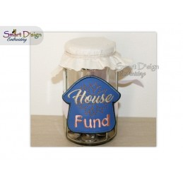 ITH Saving Jar Label HOUSE FUND 4x4 inch