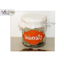 ITH Saving Jar Label UNIVERSITY 4x4 inch