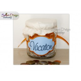ITH Saving Jar Label VACATION 4x4 inch