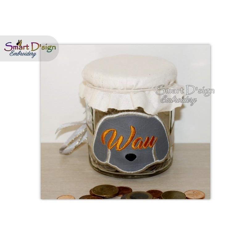 ITH Saving Jar Label WAU HUND 4x4 inch