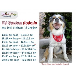 ITH Dog/Cat Bandana HO HO HO 8 sizes included
