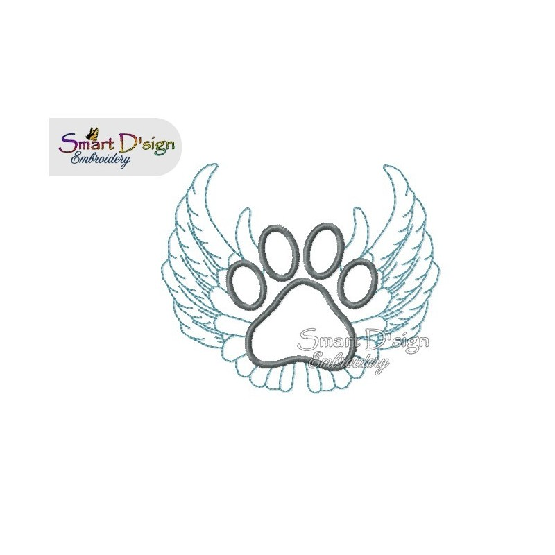 Paw Wings Rainbow Bridge 4.75x4.75 inch
