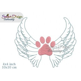 Paw Wings Rainbow Bridge 4x4 inch