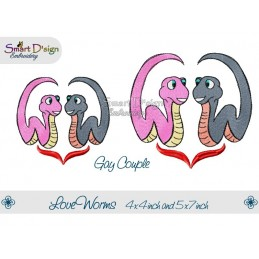 Love Worms 2 Sizes Gay Couple