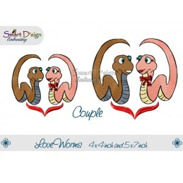 Love Worms 2 Sizes Male & Female Couple