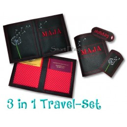 Travel Set 7 - Passport Cover & Luggage Tags 6x10 inch