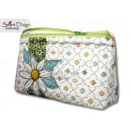ITH 7x12 inch Quilt Zipper Bags Daisy Applique In the Hoop