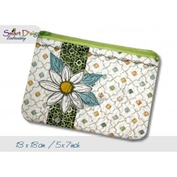 ITH 5x7 inch Quilt Zipper Bag Daisy Applique In the Hoop