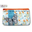 ITH Set 4x Sizes Quilt Zipper Bags Butterfly Applique In the Hoop