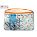 ITH 7x12 inch Quilt Zipper Bag Butterfly Applique In the Hoop