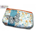 ITH 6x10 inch Quilt Zipper Bag Butterfly Applique In the Hoop