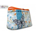 ITH 5.5x7.9 inch Quilt Zipper Bag Butterfly Applique In the Hoop