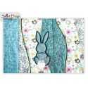 Table Runner Easter Bunny Quilt Blocks 5x7 inch