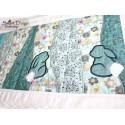 Table Runner Easter Bunny Quilt Blocks 5.5x7.9 inch