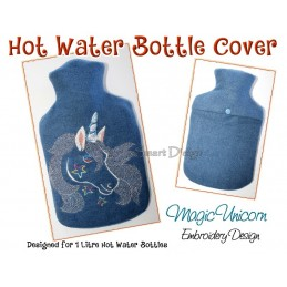 ITH Hot Water Bottle Cover - Unicorn - 7x12 inch