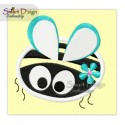 Bumblebee Applique 4x4 inch