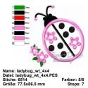 Ladybug Applique 4x4 inch