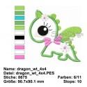 Dragon Applique 4x4 inch