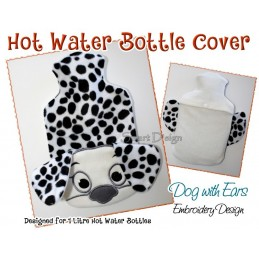 ITH Hot Water Bottle Cover Dog Dalmatian - 7x12 inch