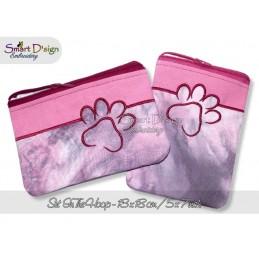 ITH 2x PAW Silhouette Zipper Bag 5x7 inch