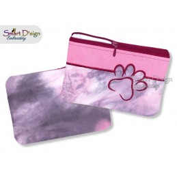 ITH PAW Silhouette Zipper Bag Landscape 5x7 inch