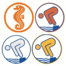 Applique Circle for German Swimming Badge