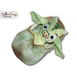 ITH Dragon Doll with Sleeping Bag 5x7 inch