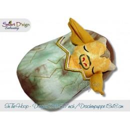 ITH Schlafender Drache Puppe mit Schlafsack 13x18 cm