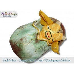 ITH Sleeping Dragon Doll with Sleeping Bag 5x7 inch