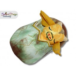 ITH Sleeping Dragon Doll with Sleeping Bag 5x7 inch