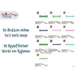 Freebie - 10x Button Hole Appliques 4x4 inch