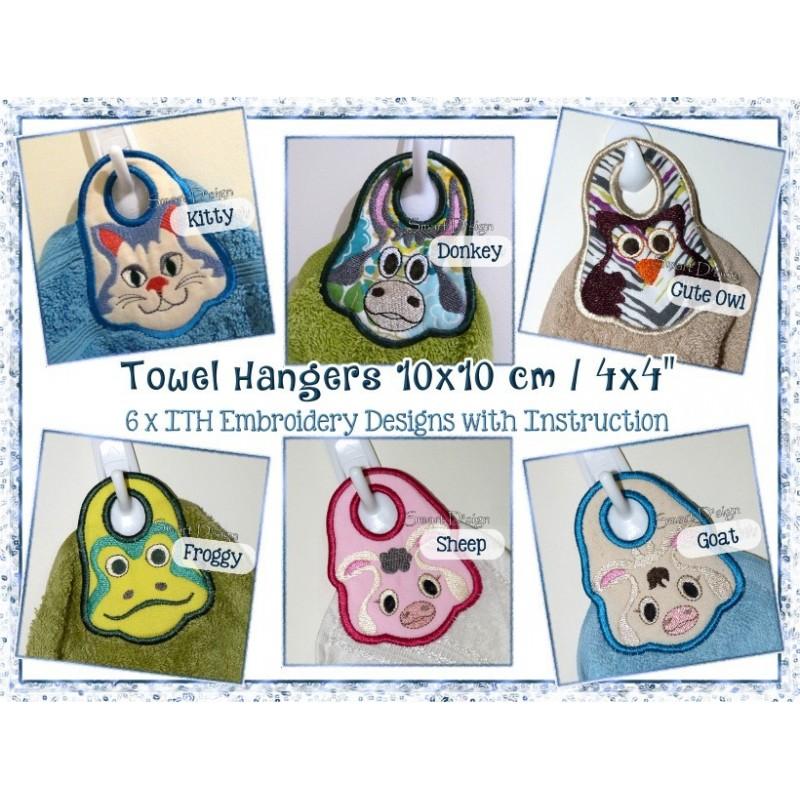 6 Towel Hangers 10x10 cm