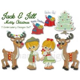 Jack & Jill Merry Christmas 7 Motifs 5x7 inch