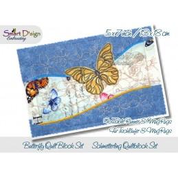Tischläufer Schmetterling Quiltblöcke 13x18 cm