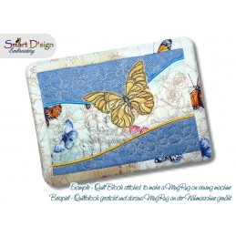 Table Runner Butterfly Quilt Blocks 5x7 inch
