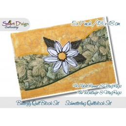 Table Runner Daisy Quilt Blocks 5x7 inch