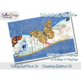 Tischläufer Schmetterling Quiltblöcke
