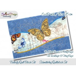 Table Runner Butterfly Quilt Blocks 6x10 inch
